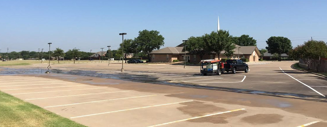 Signs Your Parking Lot Needs Pressure Washing