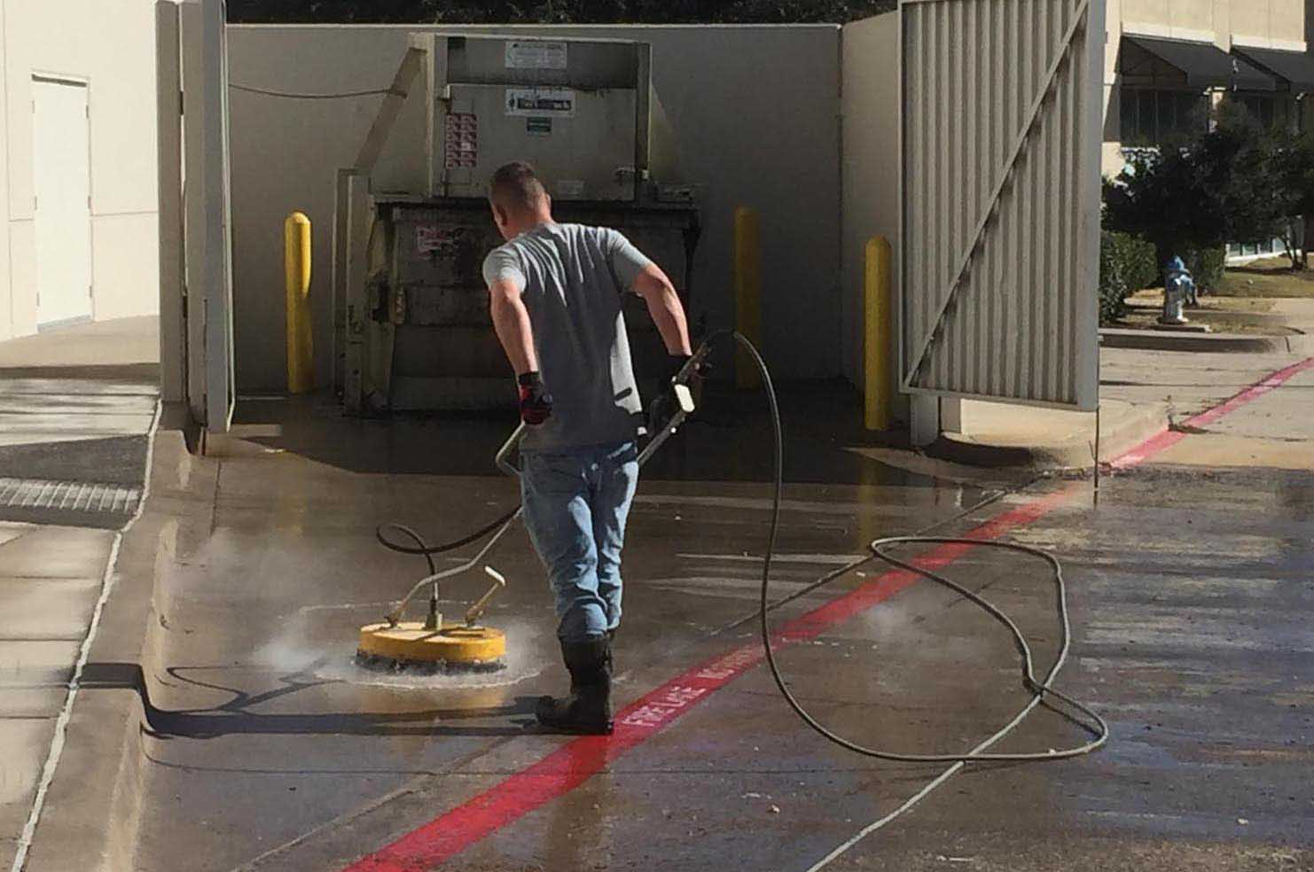 Pressure Washing with Hot Water
